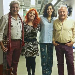 Con Lucía Pérez, Chema Purón y Julio Lagos